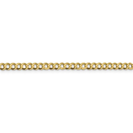 14k Yellow Gold 3.7mm Solid Flat Cuban Chain Necklace 16 Inch Pendant Charm Bismark Curb Miami Fine Jewelry For Women Gifts For Her - image 3 de 9