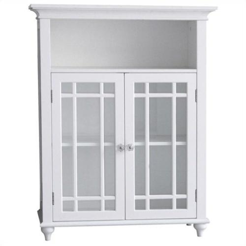 Elegant Home Fashions Neal 2-Door Floor Cabinet in White