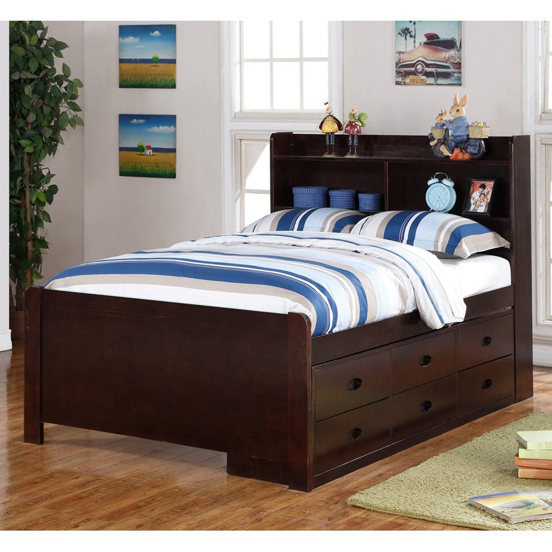 broyhill kids marco island bed with trundle bed and drawers espresso walmartcom