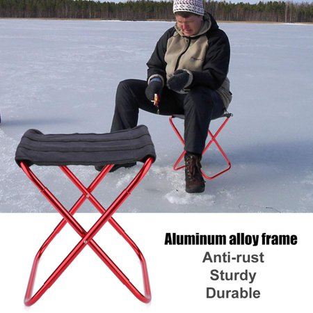 Astounding Portable Folding Stool Aluminum Alloy Fishing Chair Outdoor Camping Seat With Carry Bag Folding Stool Mini Portable Chair Ibusinesslaw Wood Chair Design Ideas Ibusinesslaworg