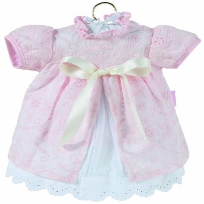 Corolle Classic Baby Doll 17-inch Fashion Pink Eyelet Dress & Shrug by