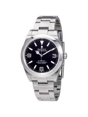 Pre-owned Rolex Explorer Black Dial Stainless Steel Oyster Bracelet Automatic Men's Watch BKASO