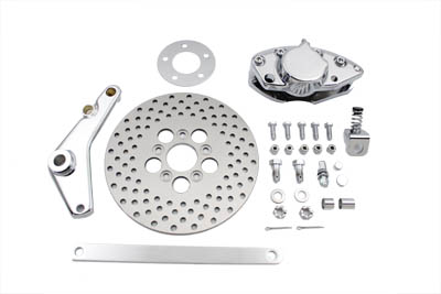 Chrome Rear 2 Piston Caliper and Disc Kit,for Harley Davidson,by V-Twin