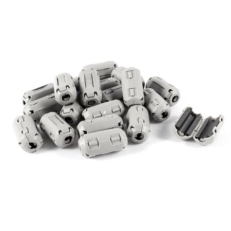 UF35B Clip On EMI RFI Noise Ferrite Core Suppressor Filter 3mm Cable Gray 20pcs - image 1 de 1