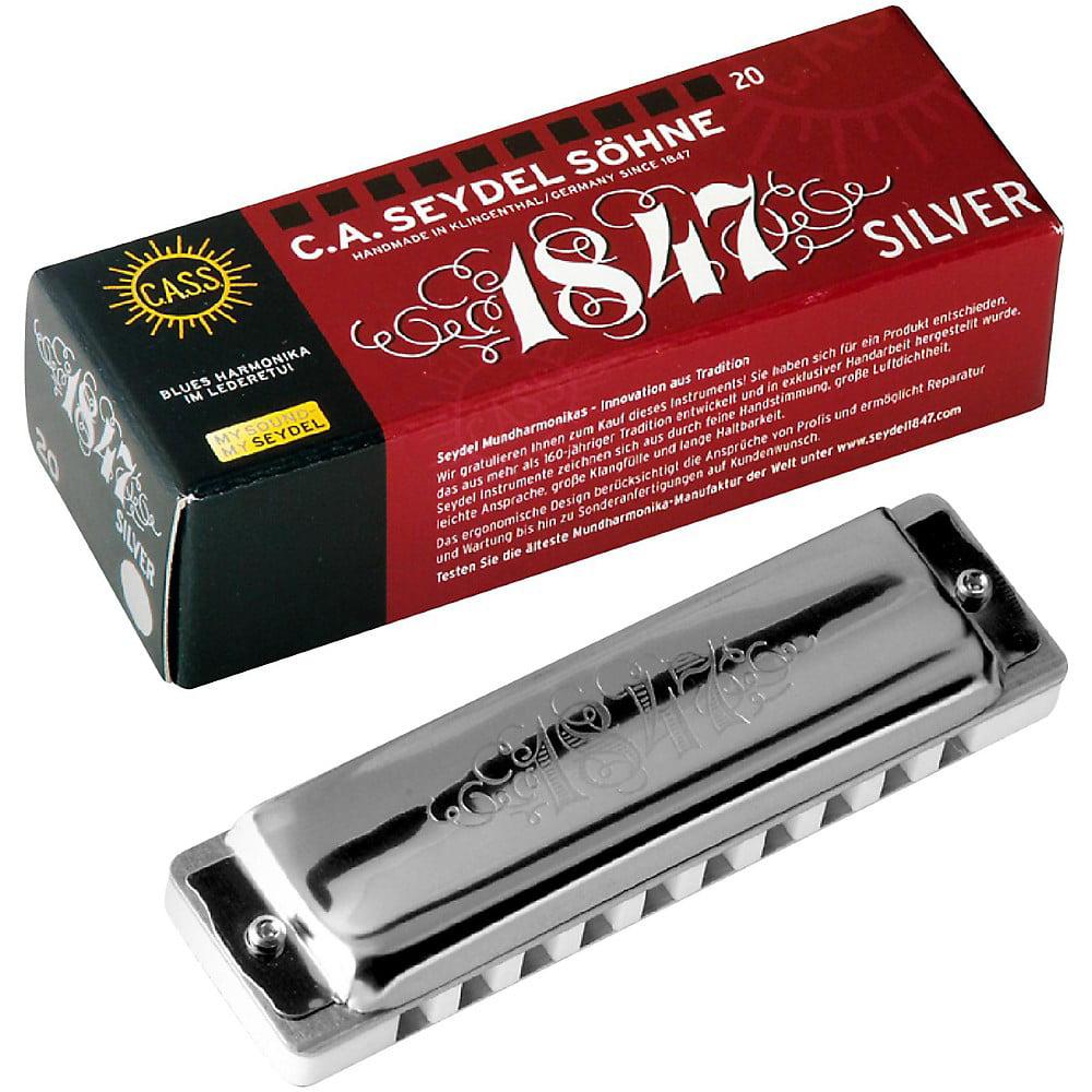 SEYDEL Blues Silver 1847 Harmonica Low C