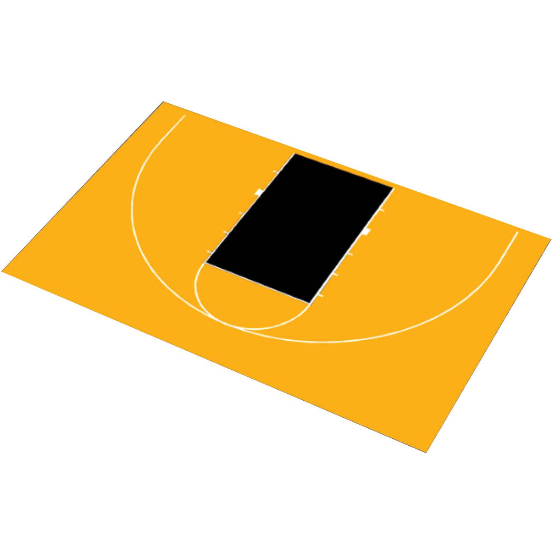 "DuraPlay 45'11"" x 29'11"" Half Court Basketball Kit"
