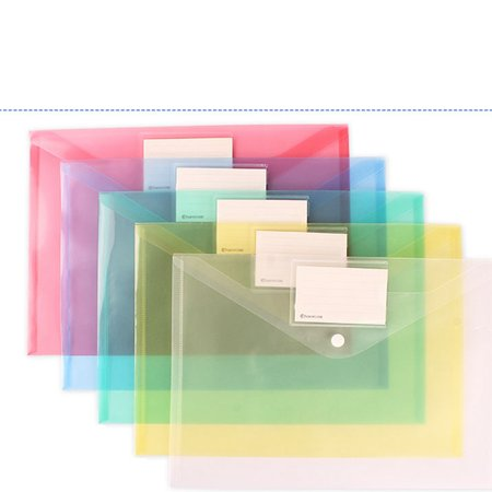 CUH File Bag Document Clear Plastic Transparent A4 Paper Holder Fireproof Waterproof Checkbook for School Travel Organizer Coupon Holder Organizer