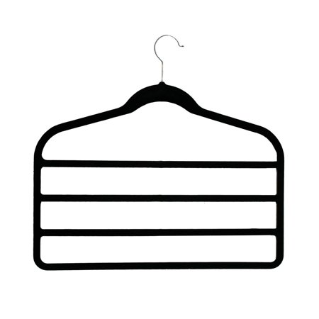 Multi-layer Non-slip Slim Velvet Hanger 5 Garment Hanger Heavy Duty and Lightweight. (4,