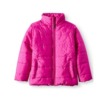 Bocini Tonal Dot Puffer Jacket (Little Girls & Big Girls) (Girls Winter Clothes Sale)