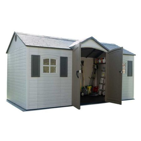 Lifetime 15 x 8 ft. Outdoor Garden Shed,