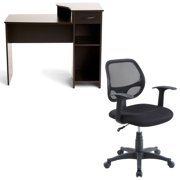 Mainstays mesh office chair with arms, multiple colors & Mainstays Student Desk