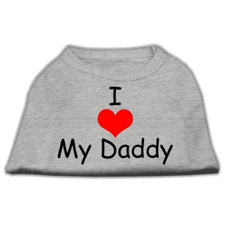 I Love My Daddy Screen Print Shirts Grey Med (12)