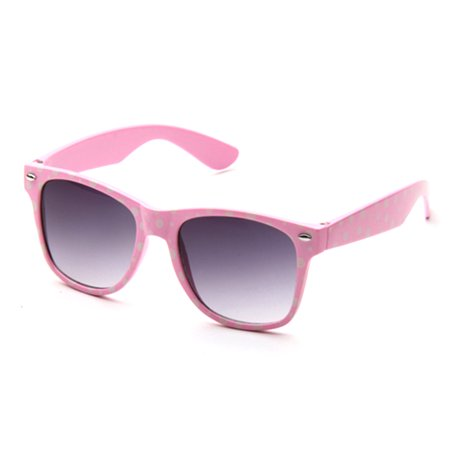 Kyra Kids Plastic Polka Dot Bow Sunglasses Lead
