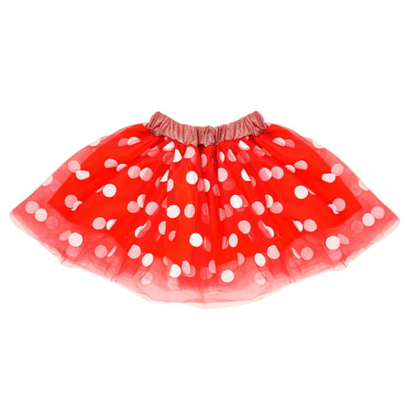 Cruise Director Halloween Costume (SeasonsTrading Red & White Polka Dot Tulle Tutu Lined Skirt - Girls Minnie, Birthday Party, Costume, Cosplay, Pretend Play, Cruise, Dance)