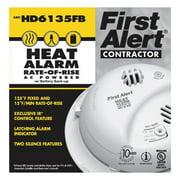 BRK HD6135FB Heat Alarm,Thermistor,120VAC, 9V