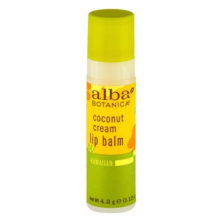 Alba Botanica crème de coco Baume à lèvres hawaïenne, 0,15 OZ