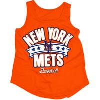 MLB New York Mets Girls Short Sleeve Team Color Graphic T-Shirt, Sizes 6-16