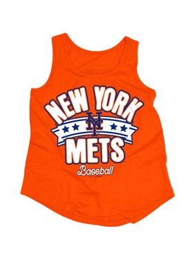 MLB New York Mets Girls Short Sleeve Team Color Graphic T-Shirt, Sizes 6-16