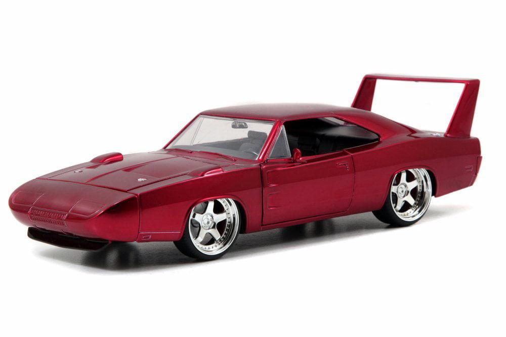 1969 Dodge Charger Daytona, Burgundy Jada Toys 97060 1 24 scale Diecast Model Toy Car by Jada