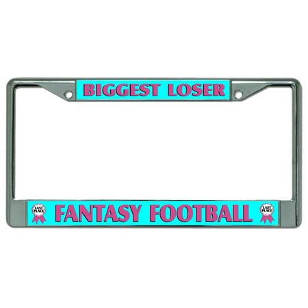 Biggest Loser #2 Fantasy Football Chrome License Plate Frame - image 1 of 1