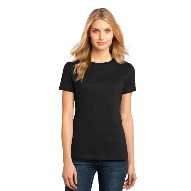 District Made® - Ladies Perfect Weight® Crew Tee. Dm104l Jet Black Xl - image 1 of 1