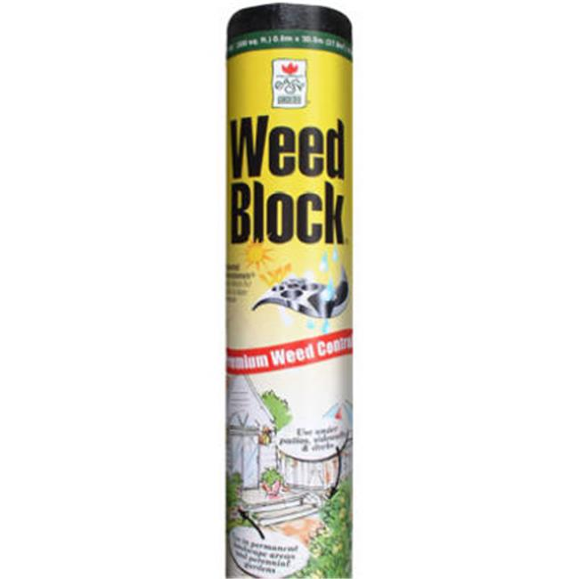Easy Gardener 1081 Weedblock, 4 x 50 ft. Heavy Duty, Black Landscape Fabric