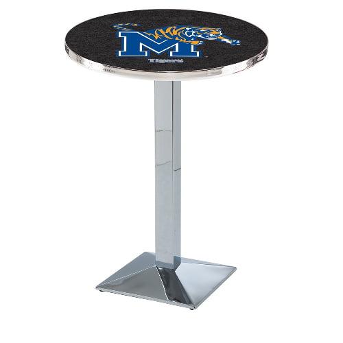 NCAA Pub Table by Holland Bar Stool, Chrome - Memphis Tigers, 36'' - L217