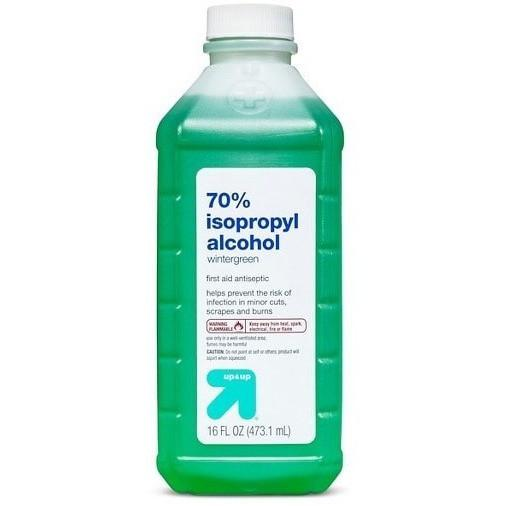 Bottles up & up brand Wintergreen Isopropyl Alcohol 70% 16oz