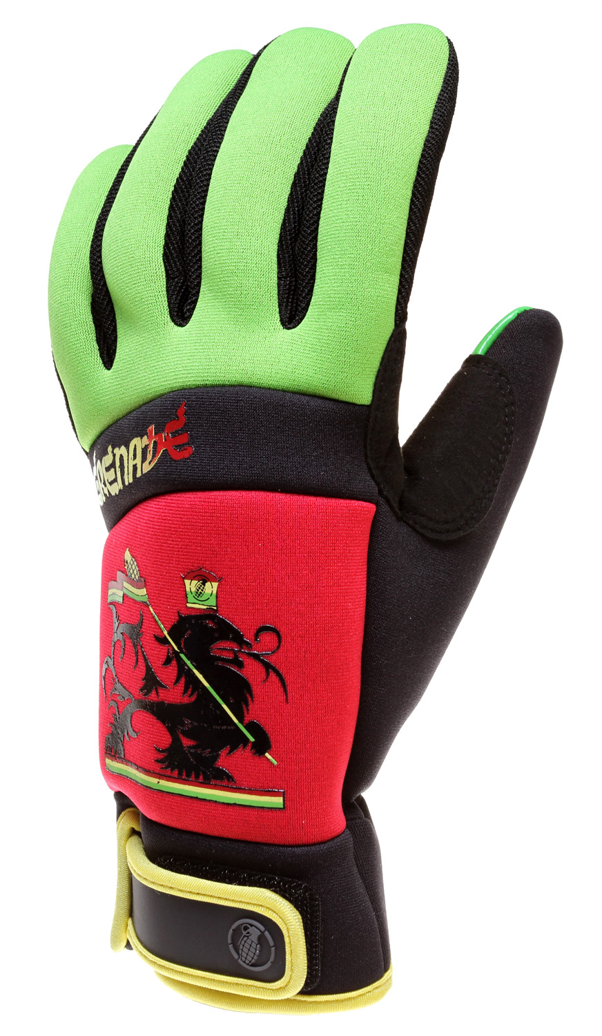 Grenade Bob Gnarly Ski Snowboard Gloves Red by Grenade