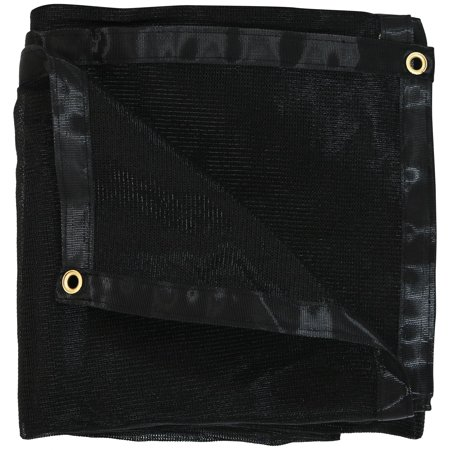 Sunnydaze 12-Foot x 20-Foot Mesh Tarp, Multi-Purpose UV-Resistant Black High-Density Polyethylene