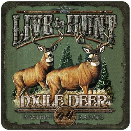 Live To Hunt Mule Deer 3 Pack of Vinyl Decal Stickers 5
