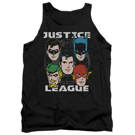 DC Comics Justic League Of America World's Heroes Adult Tank Top Shirt
