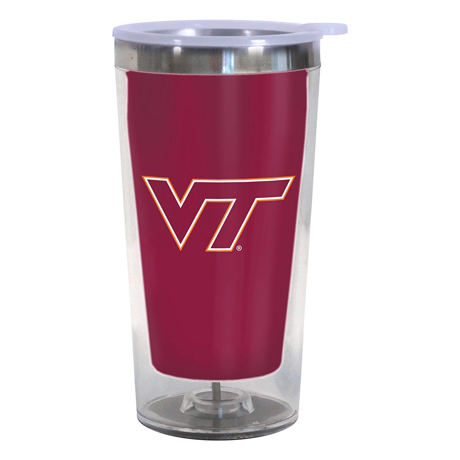 Virginia Tech Hokies 16-Ounce Color Change Tumbler with Lid