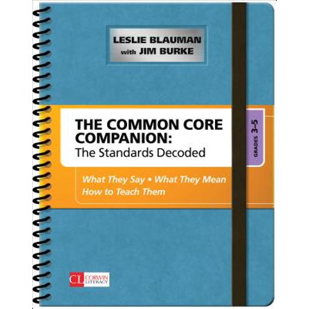 Common Core Kindergarten (The Common Core Companion: The Standards Decoded, Grades 3-5 : What They Say, What They Mean, How to Teach)