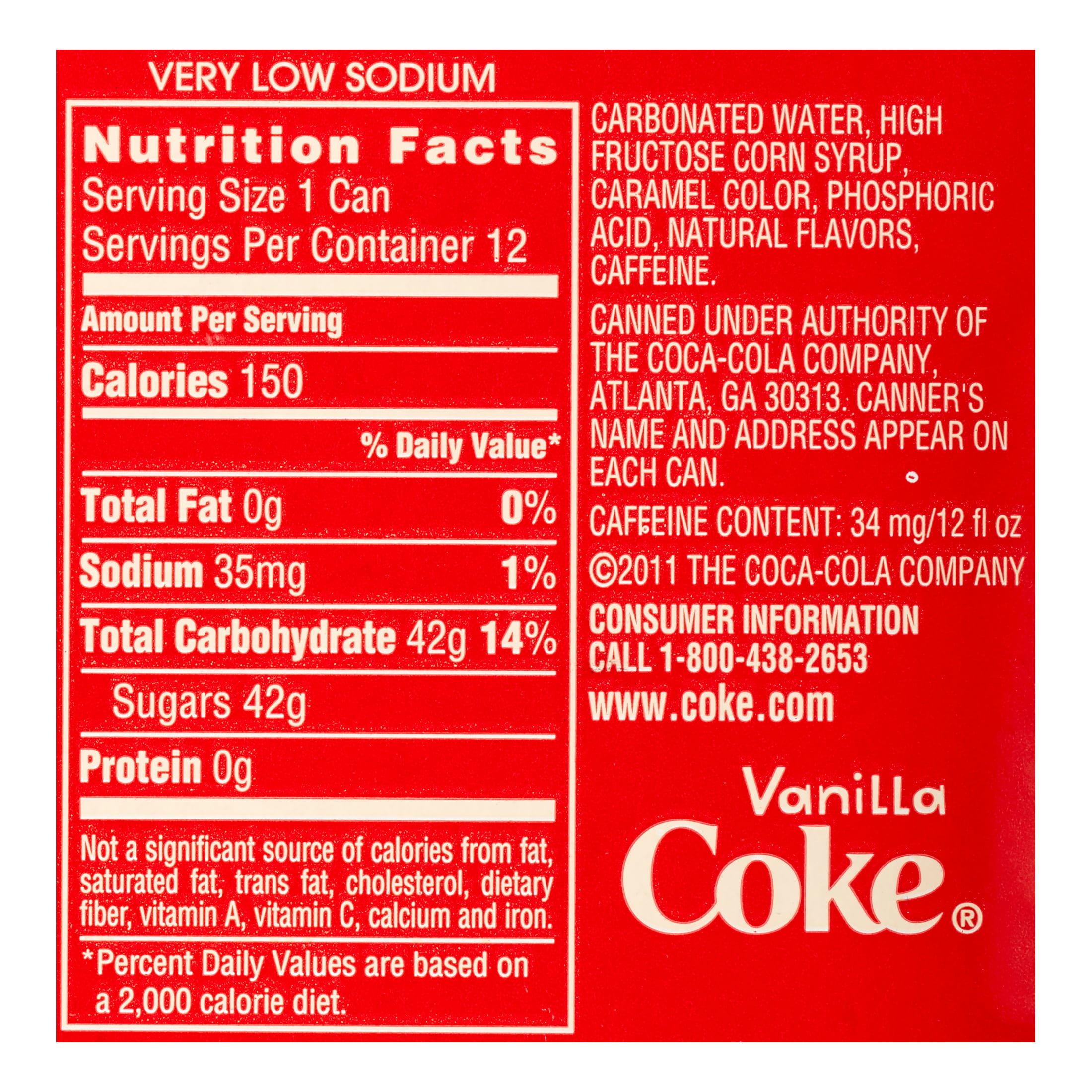Astonishing Nutrition Facts Diet Coke