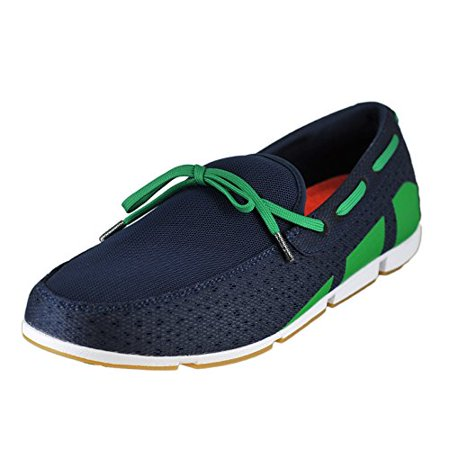 95aae41370d SWIMS - SWIMS Men s Breeze Lace Loafer Boat Shoes - Navy   Green   White -  Walmart.com