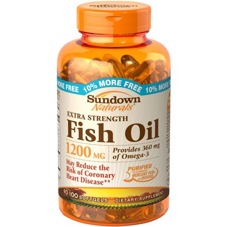 Sundown naturals fish oil dietary supplement softgels for Fish oil pills walmart