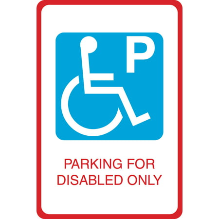 Blue Handicap Symbol Parking For Disabled Only Print Parking Car Lot Business Office Sign  Aluminum Metal