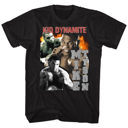 Iron Mike Tyson Kid Dynamite Boxing Images American Classics Adult T Shirt