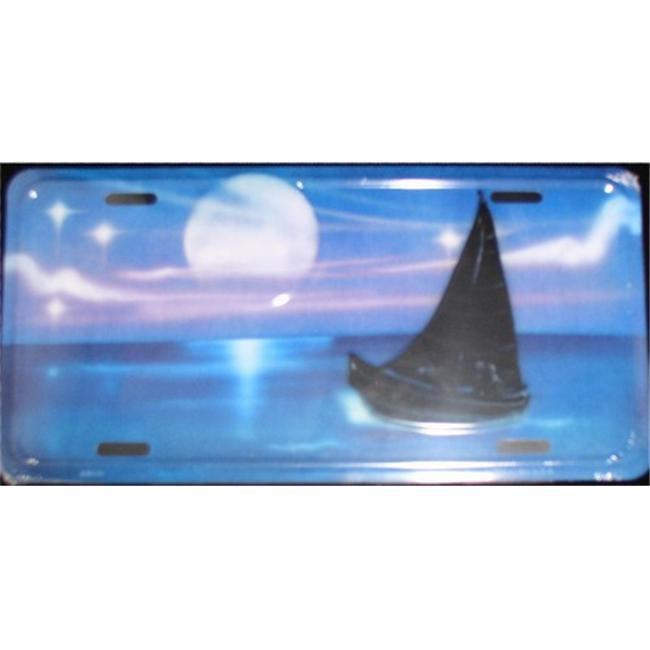 LP - 550 Sailboat License Plate - AB016