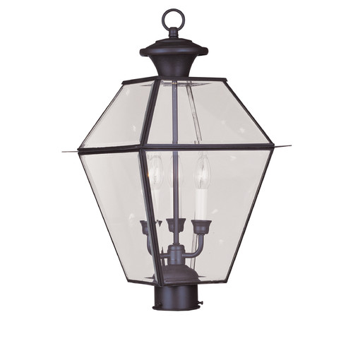 Livex Lighting 2384 Westover 3 Light Outdoor Post Light