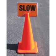 "Accuform FBC754 Traffic Control Traffic Cone Accessories MEN WORKING 10"" x 14"""