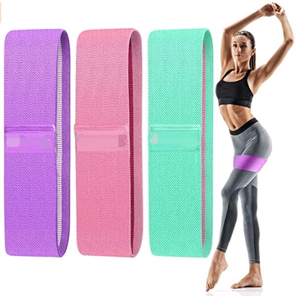 Details about  /Women Yoga Resistance Bands Loop Elastic Fitness Band HIP CIRCLE Glute Exercise