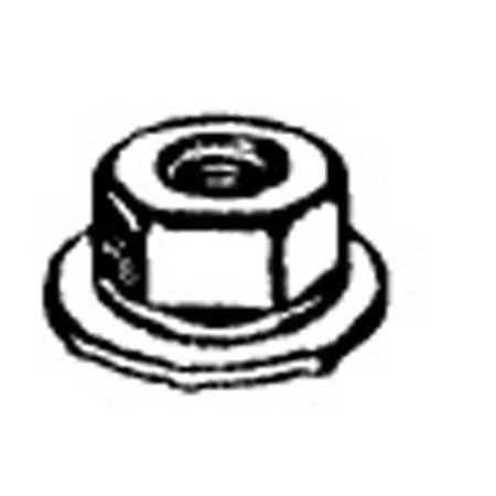 W & E Sales 5948 6 Mm Nut With Free Spinning 19 mm. Washer, 10 mm. Hex Phos and Oil Gm and Chrysler, Package Of 25
