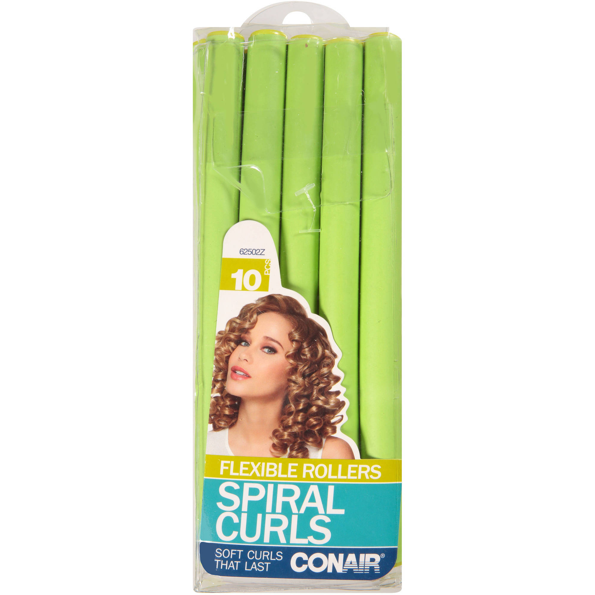 Conair Spiral Curls Flexible Rollers, 10 count