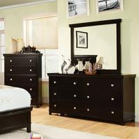 Furniture of America Cullen Inspired 6 Drawer Dresser - Espresso