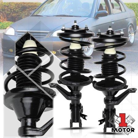 - Front L+R Strut Assembly Shock Absorber Spring for 01-05 Honda Civic/Acura EL 02 03 04