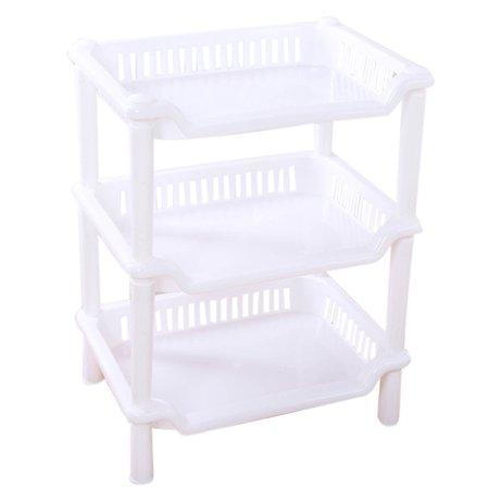 Tuscom 3 Tier Plastic Corner Organizer Bathroom Caddy Shelf Kitchen Storage Rack Holder