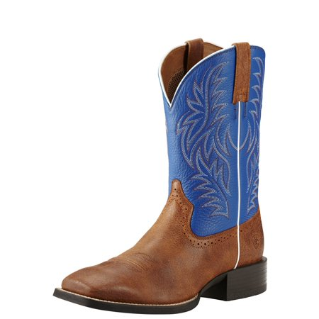 - Ariat Men's Sport Western Blue And Cowboy Boot Square Toe - 10018689