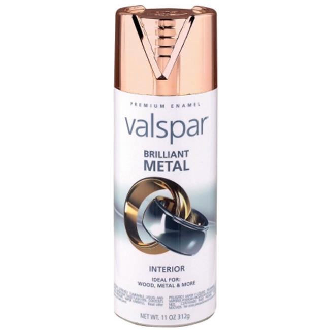 Valspar Brand Brilliant Metal Spray Paint - Pack of 6